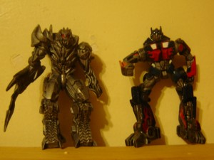 ROTF Megatron Versus ROTF Optimus: Only Transformers could make me want to buy a Slurpee from 7-11.