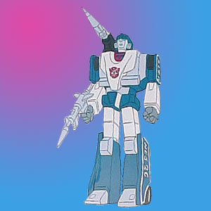 This screengrab of the toon kinda makes the white on the head OK    Transformers G1 Mirage