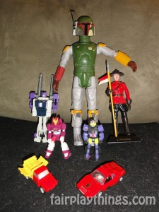 Two action masters, Boba Fett and a mountie walk into a bar...