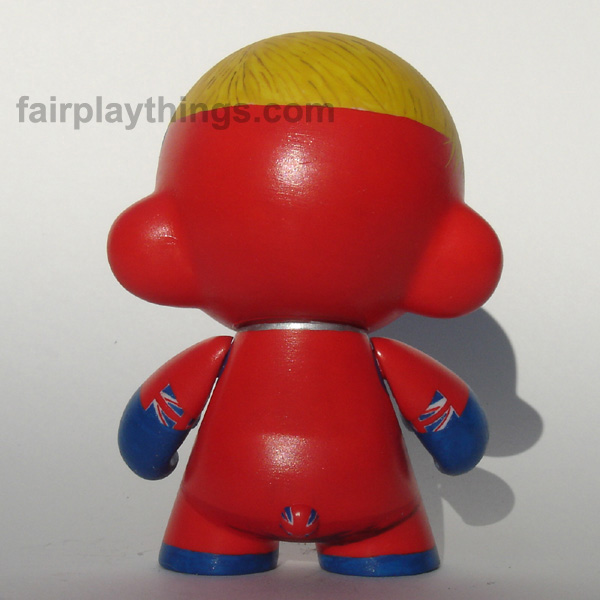 Captain Britain - back view